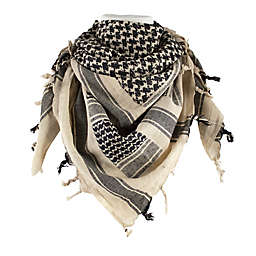 Red Rock Outdoor Gear Tactical Shemagh Head Wrap in Khaki/Black