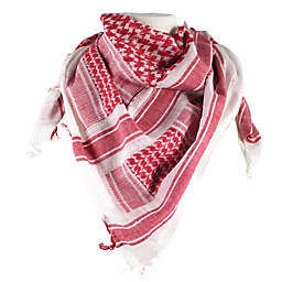 Red Rock Outdoor Gear Tactical Shemagh Head Wrap in White/Red