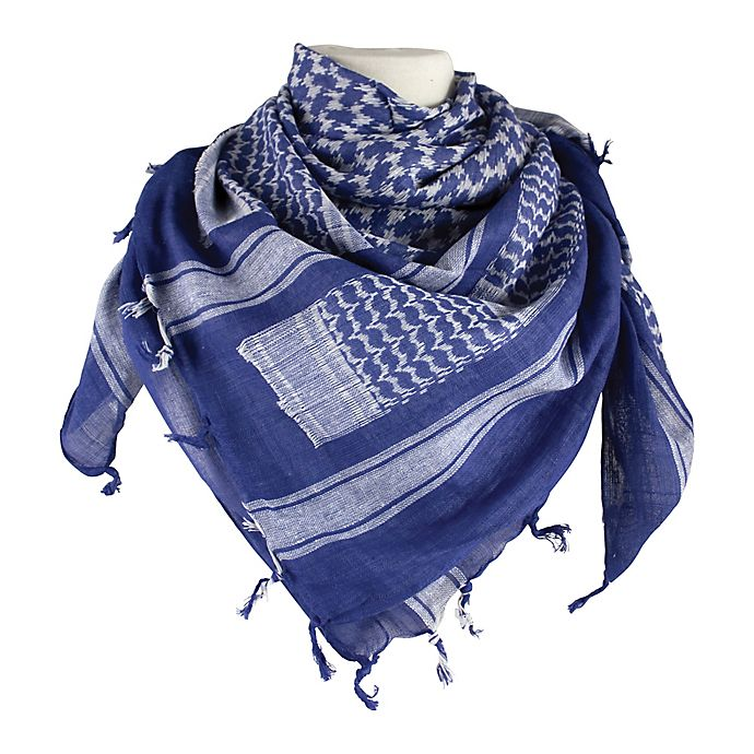 Alternate image 1 for Red Rock Outdoor Gear Tactical Shemagh Head Wrap in Royal Blue/White