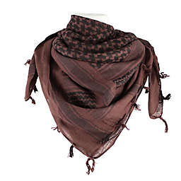 Red Rock Outdoor Gear Tactical Shemagh Head Wrap in Royal Brown/Black