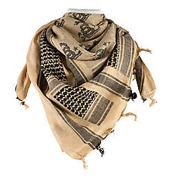 Red Rock Outdoor Gear Tactical Shemagh Head Wrap in Don't Tread on Me Coyote Black