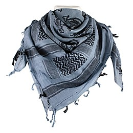 Red Rock Outdoor Gear Tactical Shemagh Head Wrap in Skull with Crossbones Blue/Black