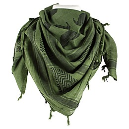 Red Rock Outdoor Gear Tactical Shemagh Head Wrap in Mustache Olive Drab/Black