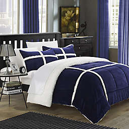 Chic Home Camille 2-Piece King Comforter Set in Navy