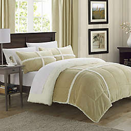 Chic Home Camille 2-Piece Queen Comforter Set in Taupe