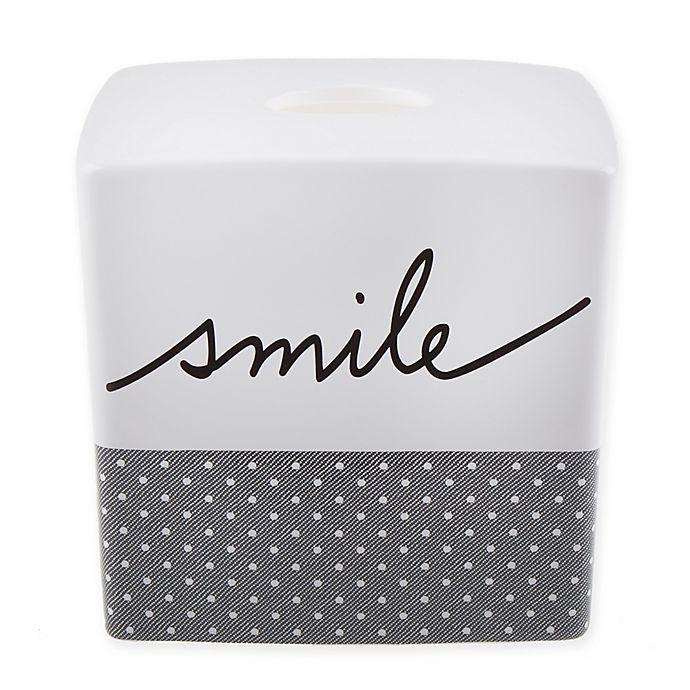Alternate image 1 for ED Ellen DeGeneres Words Tissue Holder in White/Grey