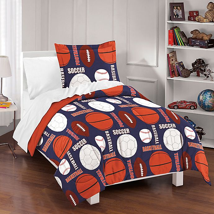 Dream Factory All Sports Reversible Comforter Set   Bed ...