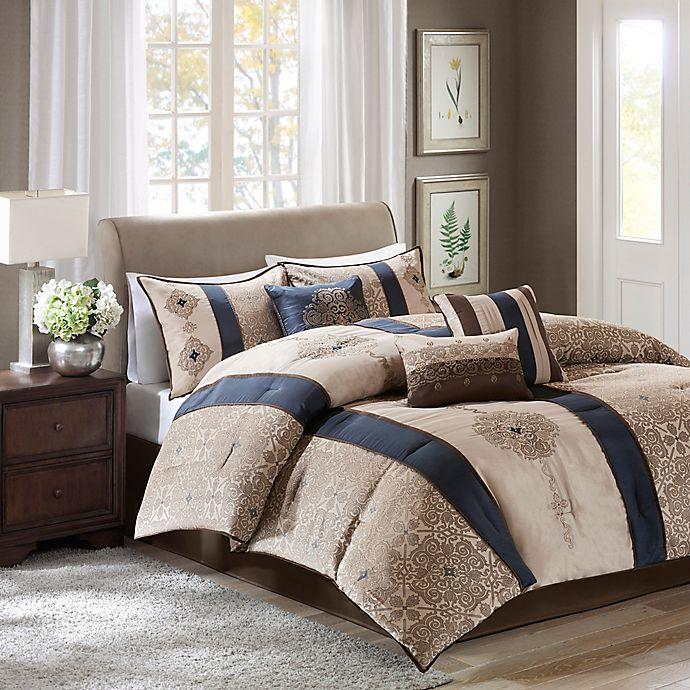 Alternate image 1 for Madison Park Donovan 7-Piece King Comforter Set in Navy