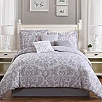 Studio 17 Welford 7-Piece Reversible Queen Comforter Set in Grey