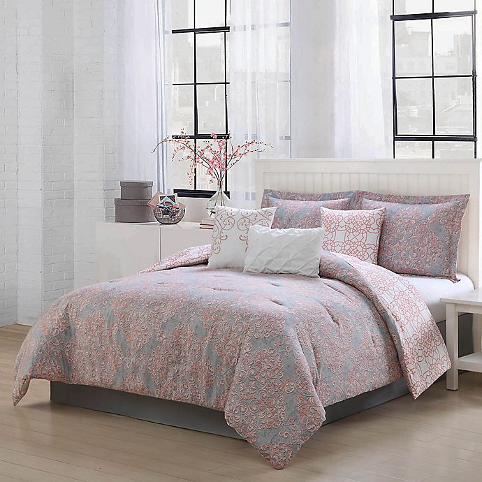Studio 17 Magic Reversible Comforter Set In Blush Grey