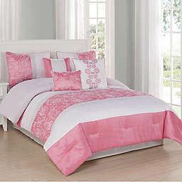 Studio 17 Blossom 7-Piece Reversible Comforter Set
