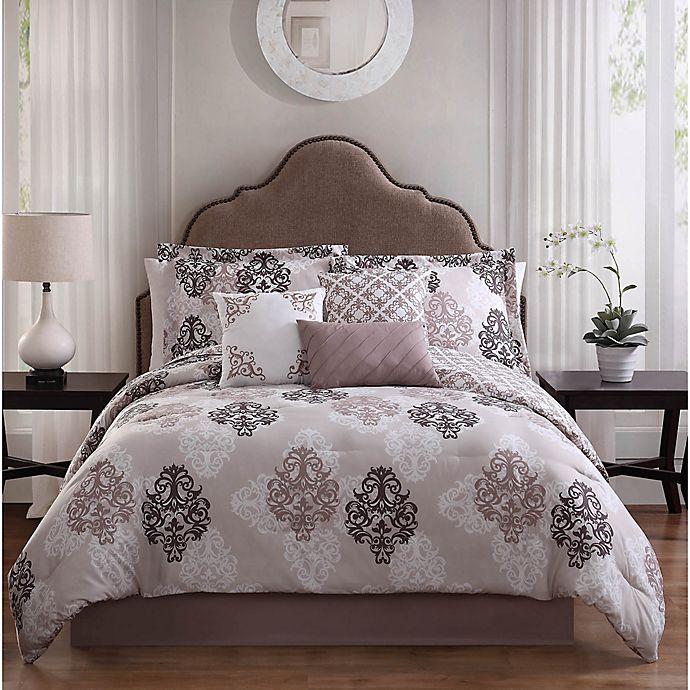 Alternate image 1 for Studio 17 Java 7-Piece Queen Reversible Comforter Set in Taupe/White