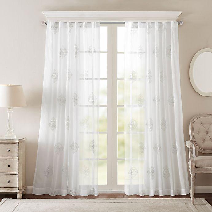 Alternate image 1 for Bombay® Massa Rod-Pocket Sheer Window Curtain Panel