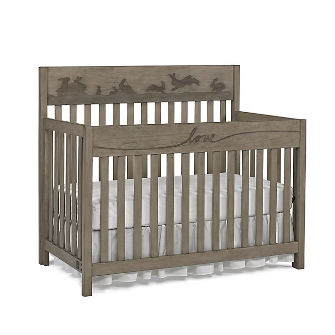 Alternate image 1 for ED Ellen DeGeneres Forest Animal 4-in-1 Convertible Crib in Natural Grey