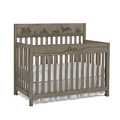 ED Ellen DeGeneres Forest Animal 4-in-1 Convertible Crib in Natural Grey