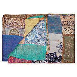 Kantha Quilted Silk Throw