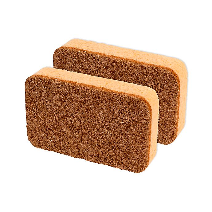 Alternate image 1 for casabella® 2-Pack Copper Power Cellulose Sponge