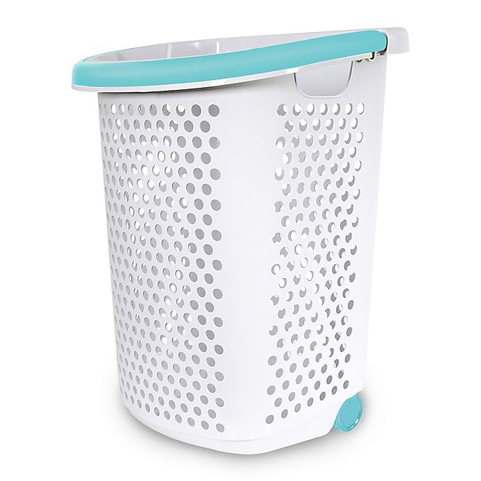 Alternate image 1 for Home Logic 2.0-Bu. Rolling Hamper in White