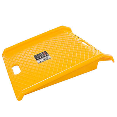 Stalwart Portable Polyethylene Ramp in Yellow