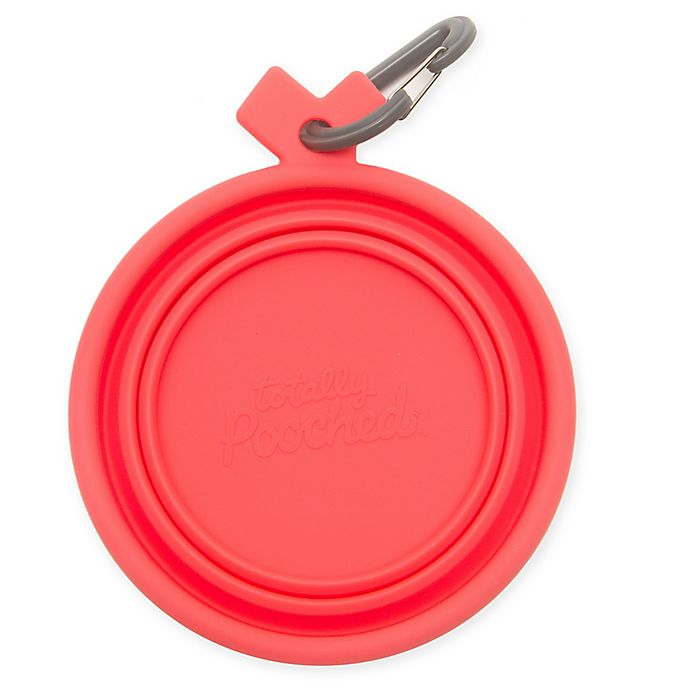 Alternate image 1 for Totally Pooched™ Small Travel Collapsible Bowl in Coral