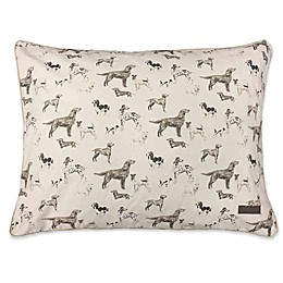 Laura Ashley Cotton Canvas Pillow Pet Bed in Tan