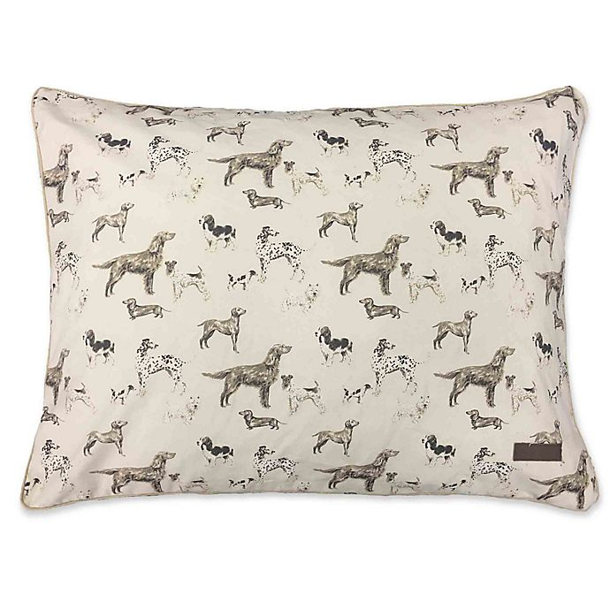 Alternate image 1 for Laura Ashley Cotton Canvas Pillow Pet Bed in Tan