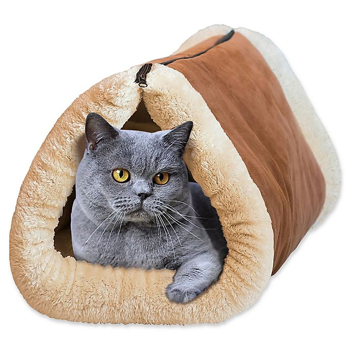 Alternate image 1 for 2-in-1 Pet Tunnel Bed And Mat
