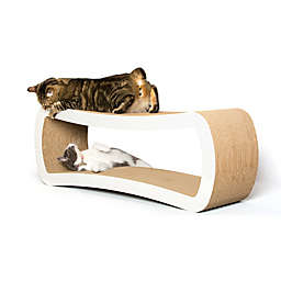 Petfusion Ultimate Cat Scratcher Lounge in White