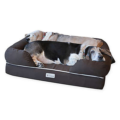 PetFusion™ Ultimate Large Pet Bed and Lounge in Brown