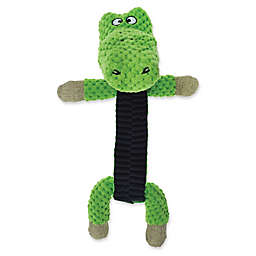 Bounce & Pounce Corduroy Burlap Toy Gator with Twisted Body