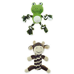 Bounce & Pounce Mini Frog and Cow Rope Dog Toys