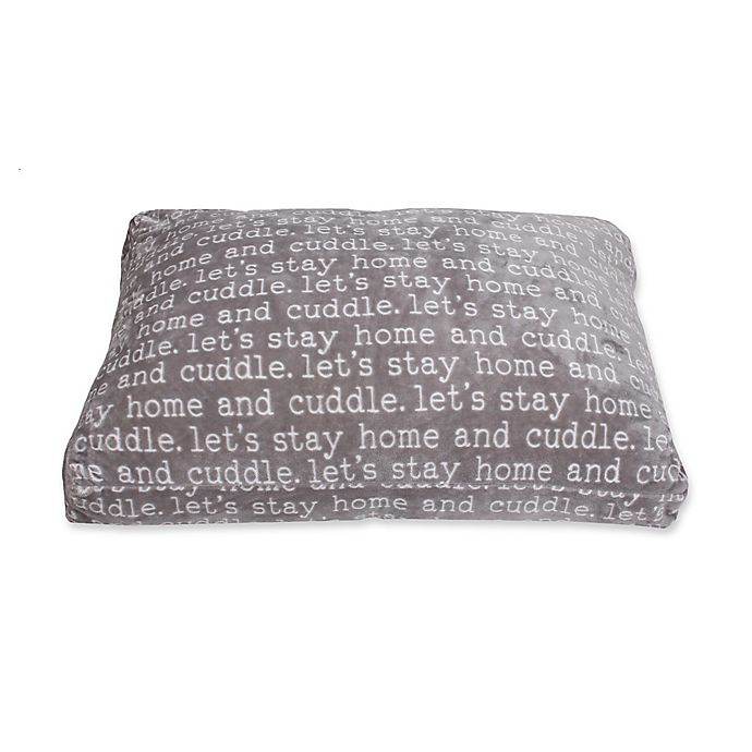 Alternate image 1 for Cuddle Words 36-Inch x 27-Inch Printed Pet Bed in Grey