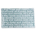 Tourmaline Cuddle Flannel Print Fleece 50-Inch x 60-Inch Pet Throw in Blue
