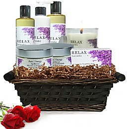 Pure Energy Apothecary Premium Spa Collection Lavender Gift Set with Basket