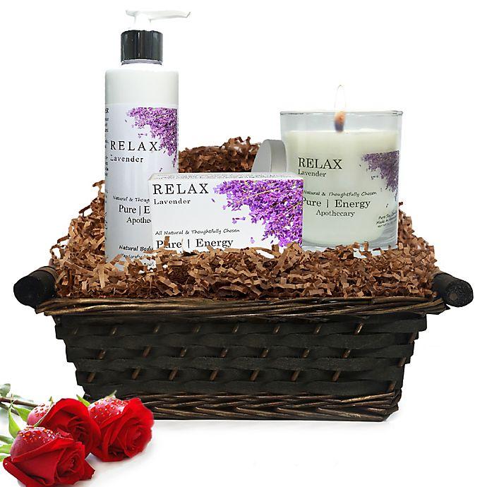 Alternate image 1 for Pure Energy Apothecary Nourishing Balance Lavender Gift Set with Basket