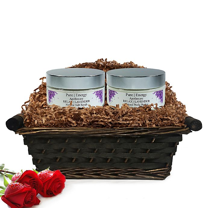 Alternate image 1 for Pure Energy Apothecary Supreme Sensation Lavender Gift Set with Basket