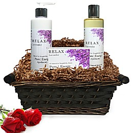 Pure Energy Apothecary Daily Delight Lavender Gift Set with Basket