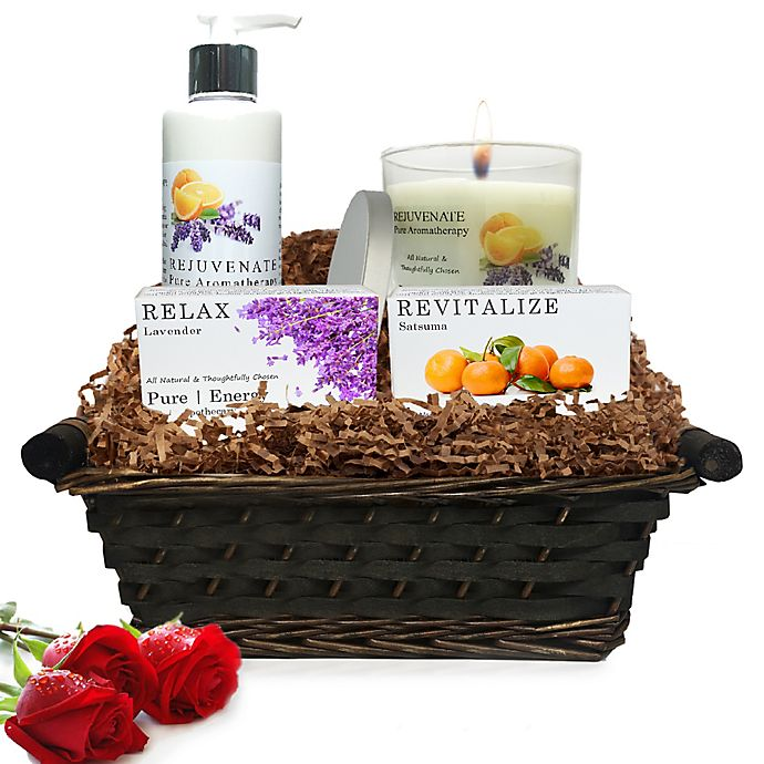 Alternate image 1 for Pure Energy Apothecary Nourishing Balance Pure Aromatherapy Gift Set with Basket