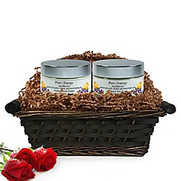Pure Energy Apothecary Supreme Sensation Pure Aromatherapy Gift Set with Basket