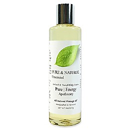 Pure Energy Apothecary Pure and Natural 8 oz. Unscented Massage Oil
