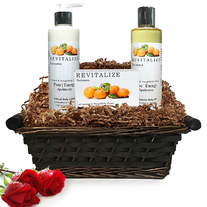 Alternate image 1 for Pure Energy Apothecary Daily Delight Satsuma Gift Set with Basket