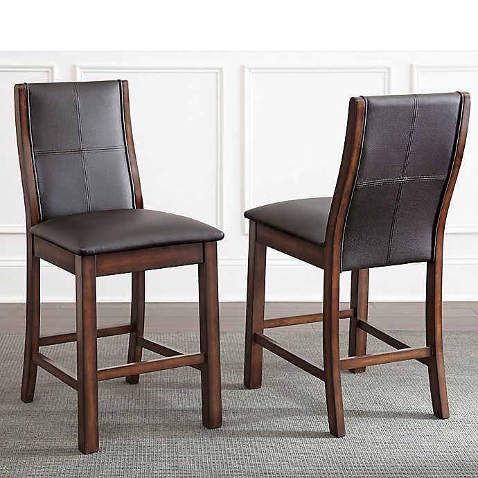 Swell Steve Silver Co Xander Counter Chairs In Espresso Dark Brown Set Of 2 Alphanode Cool Chair Designs And Ideas Alphanodeonline