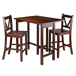 Winsome Lynnwood 3-Piece Dining Set with Antique Walnut Finish