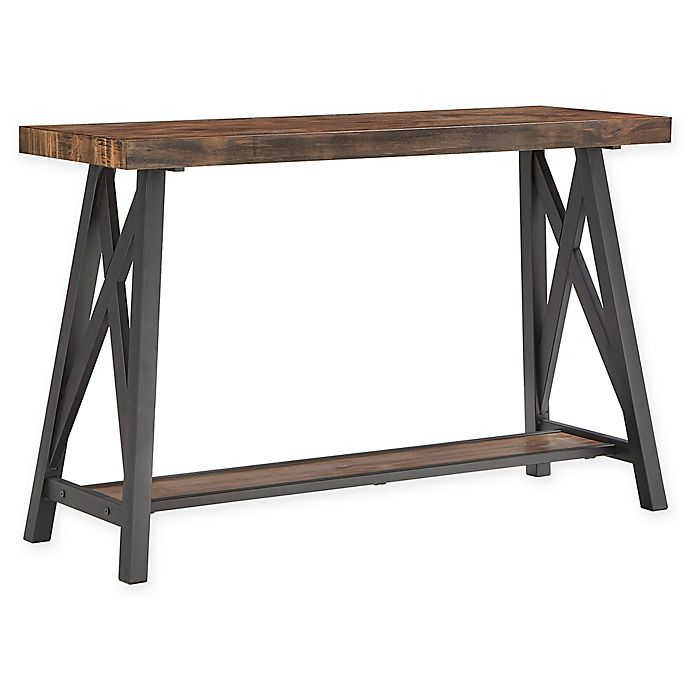 Bed Bath And Beyond Beaumont: INSPIRE Q® Beaumont Rustic X-Base Sofa Table