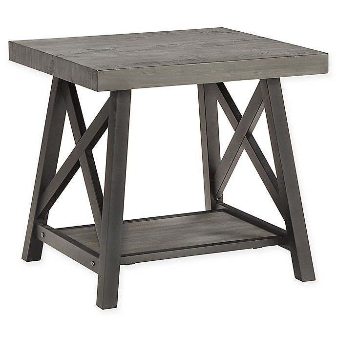 Bed Bath And Beyond Beaumont: INSPIRE Q® Beaumont Rustic X-Base End Table