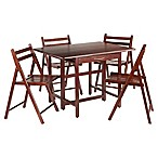 Winsome Taylor 5-Piece Dining Set with Walnut Finish