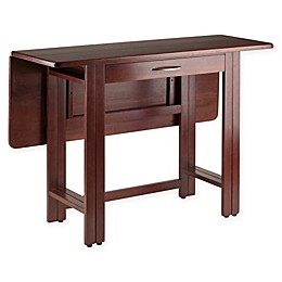 Winsome Taylor Drop Leaf Dining Table with Walnut Finish