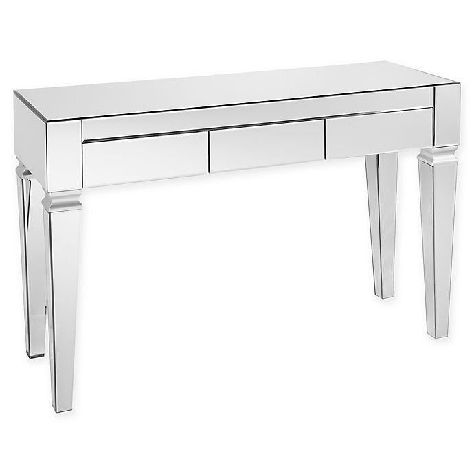 Alternate image 1 for Southern Enterprises Darien Contemporary Mirrored Console Table in Silver