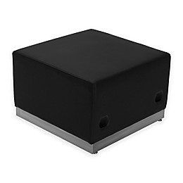 Flash Furniture Leather Ottoman with Steel Base