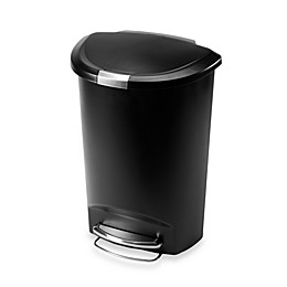 simplehuman® Plastic Semi-Round 50-Liter Step-On Trash Can